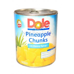 Dole , Pineapples Chunks Easy Open Can (836 grams)