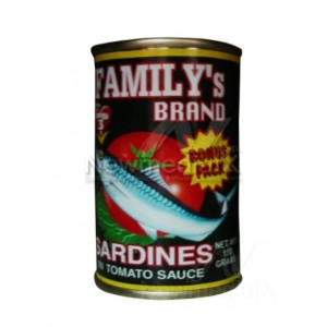 Family's brand sardines in tomato sauce - green 155 grams