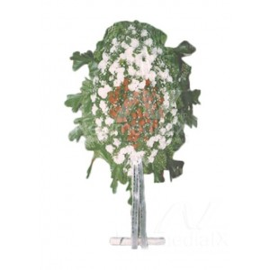 Wreath with stand 1